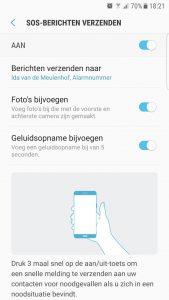 Sos bericht versturen Samsung